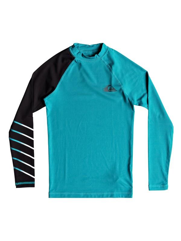 0 Boy's 8-16 Active Long Sleeve UPF 50 Rash guard Blue EQBWR03059 Quiksilver