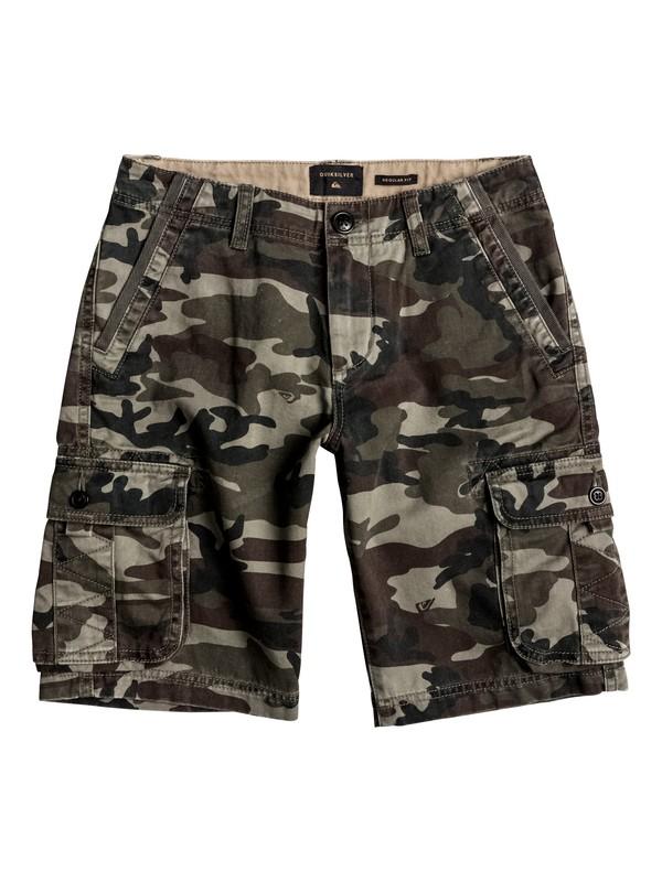 0 Boy's 8-16 Everyday Deluxe Cargo Shorts Green EQBWS03126 Quiksilver