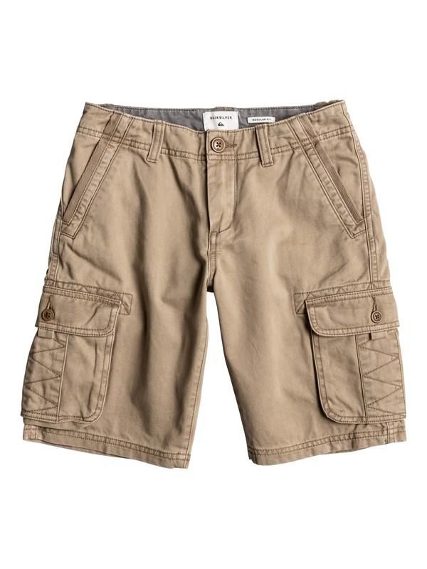 0 Boy's 8-16 Everyday Deluxe Cargo Shorts Beige EQBWS03126 Quiksilver