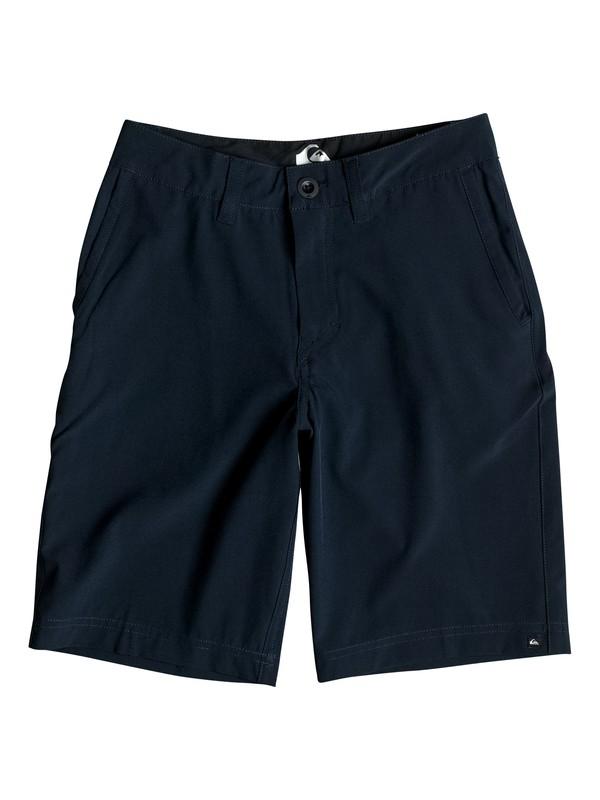 "0 Boy's 8-16 Solid 19"" Amphibian Shorts  EQBWS03132 Quiksilver"