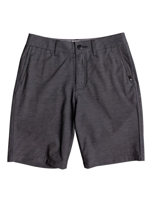 "0 Boy's 8-16 Union Heather Amphibian 18"" Amphibian Shorts Black EQBWS03199 Quiksilver"