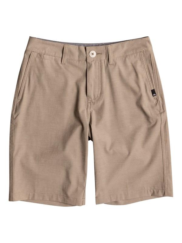 "0 Boy's 8-16 Union Heather Amphibian 18"" Amphibian Shorts  EQBWS03199 Quiksilver"
