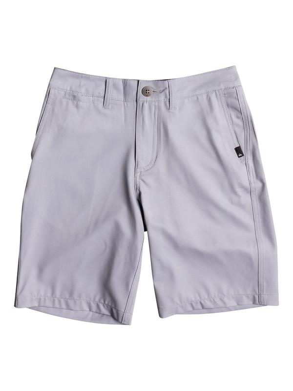 "0 Boy's 8-16 Union Amphibian 18"" Amphibian Shorts Grey EQBWS03210 Quiksilver"