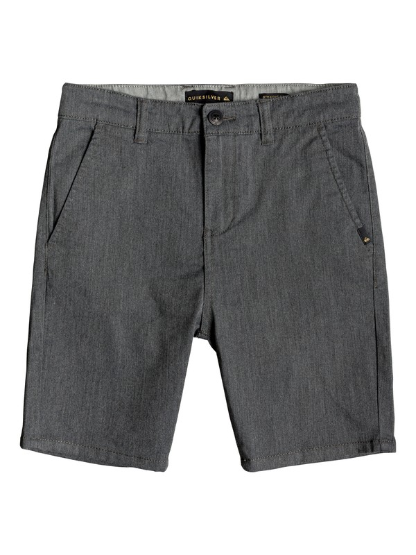 "0 Boy's 8-16 New Everyday Union 17"" Chino Shorts Black EQBWS03223 Quiksilver"