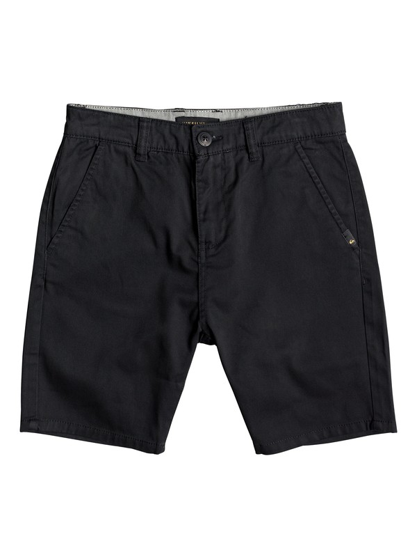 "0 Boy's 8-16 New Everyday Union 17"" Chino Shorts Black EQBWS03223 Quiksilver"