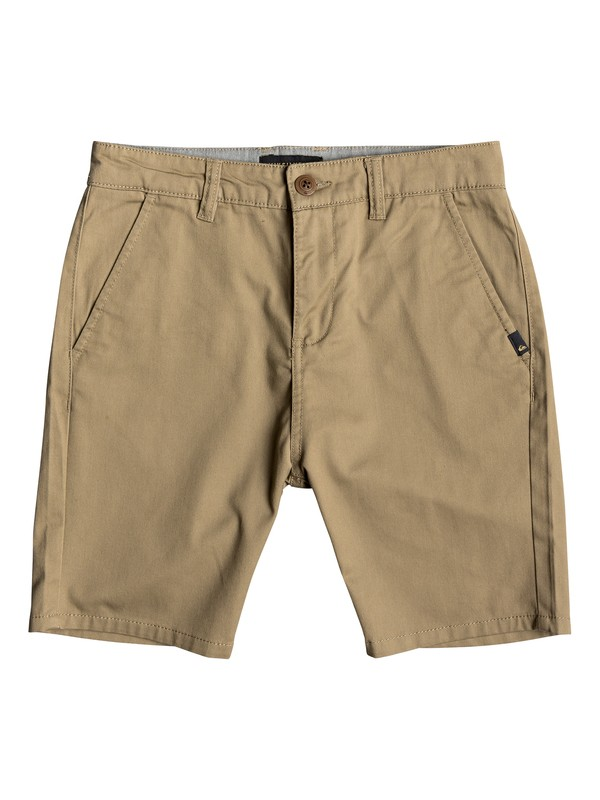 "0 Boy's 8-16 New Everyday Union 17"" Chino Shorts Beige EQBWS03223 Quiksilver"
