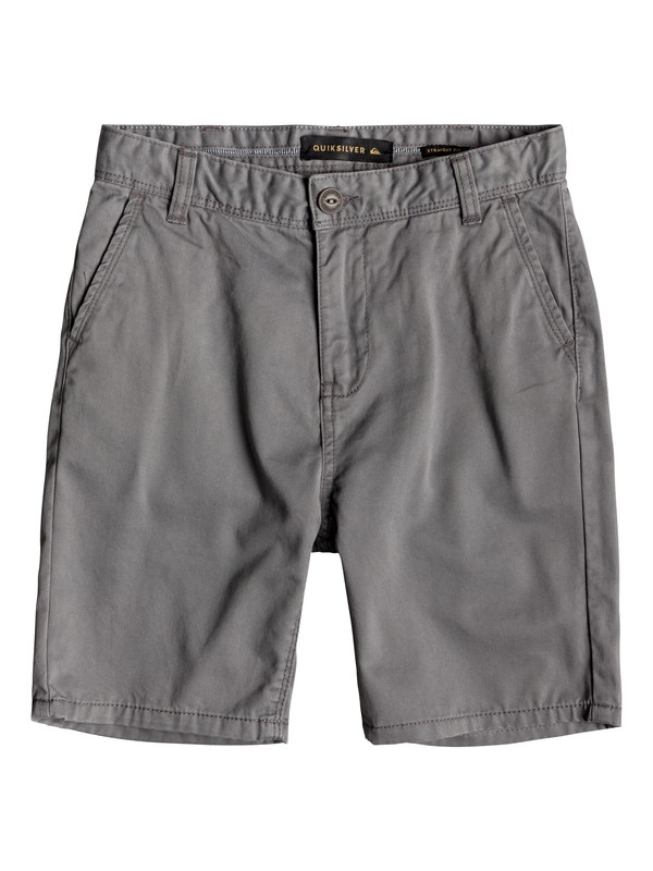 0 Boy's 8-16 Everyday Chino Shorts Black EQBWS03225 Quiksilver