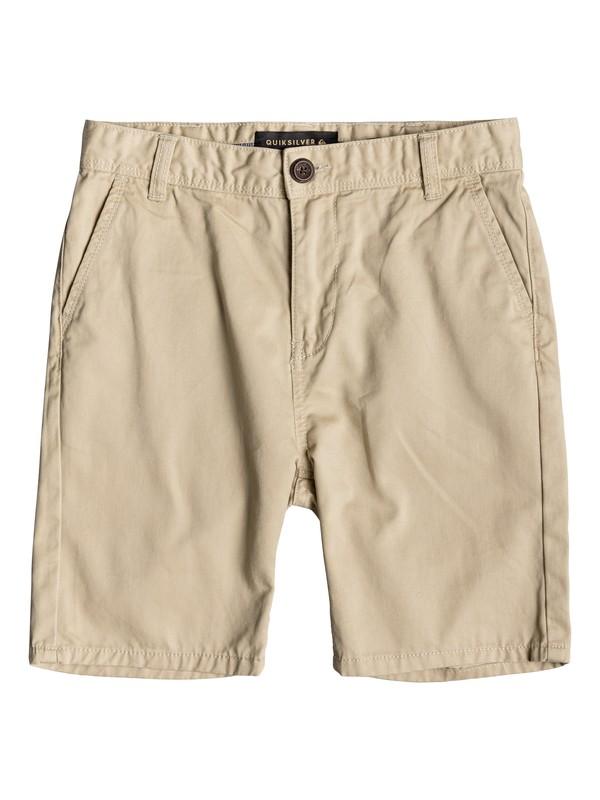 0 Boy's 8-16 Everyday Chino Shorts Beige EQBWS03225 Quiksilver