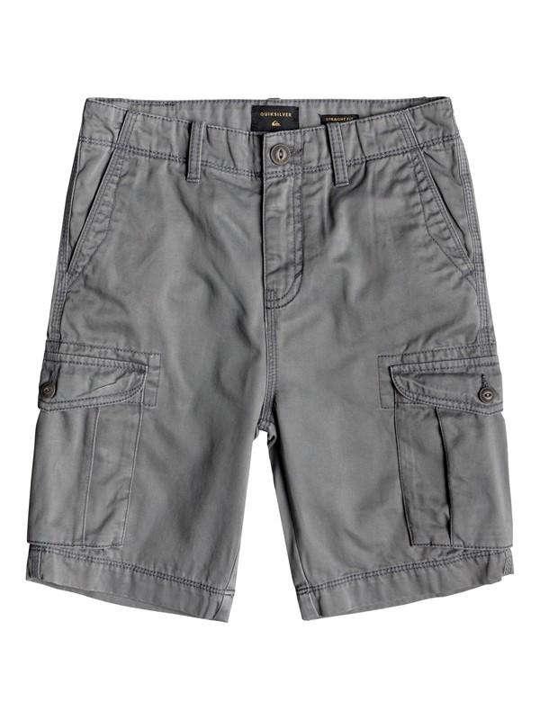 "0 Boy's 8-16 Crucial Battle 18"" Cargo Shorts Black EQBWS03226 Quiksilver"