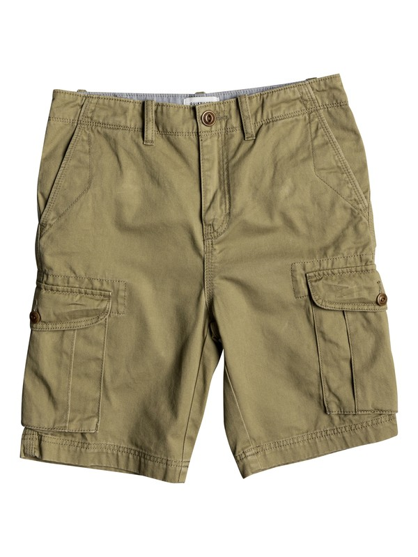 "0 Boy's 8-16 Crucial Battle 18"" Cargo Shorts Beige EQBWS03226 Quiksilver"
