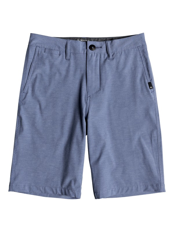 "0 Boy's 8-16 Union Heather 19"" Amphibian Boardshorts Blue EQBWS03232 Quiksilver"