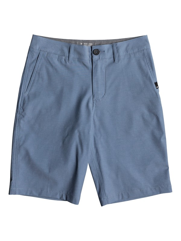 "0 Union Heather 19"" Amphibian Boardshorts Azul EQBWS03232 Quiksilver"