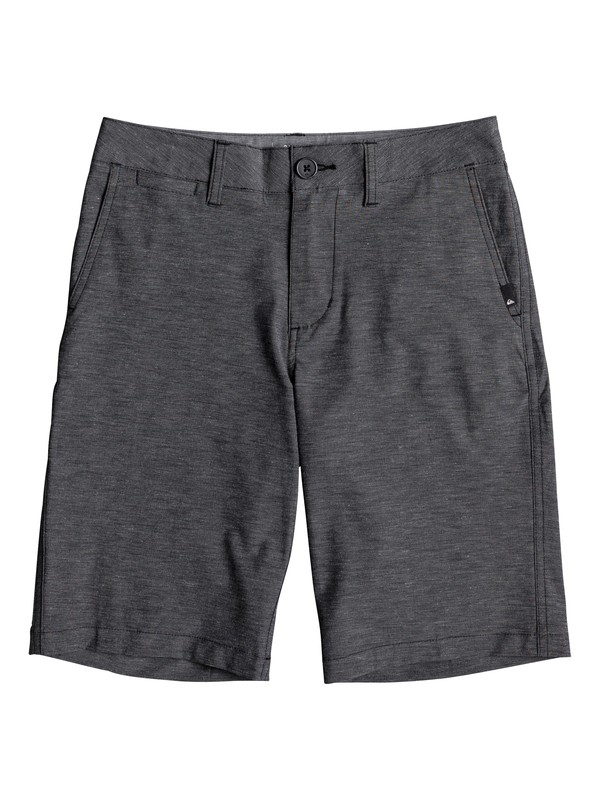 "0 Boy's 8-16 Union Heather 19"" Amphibian Boardshorts Black EQBWS03232 Quiksilver"