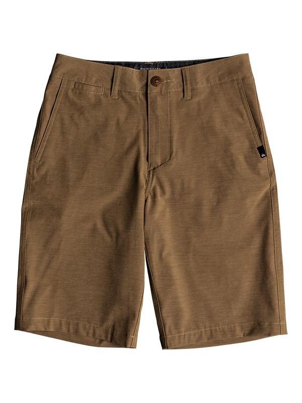 "0 Boy's 8-16 Union Heather 19"" Amphibian Boardshorts Beige EQBWS03232 Quiksilver"
