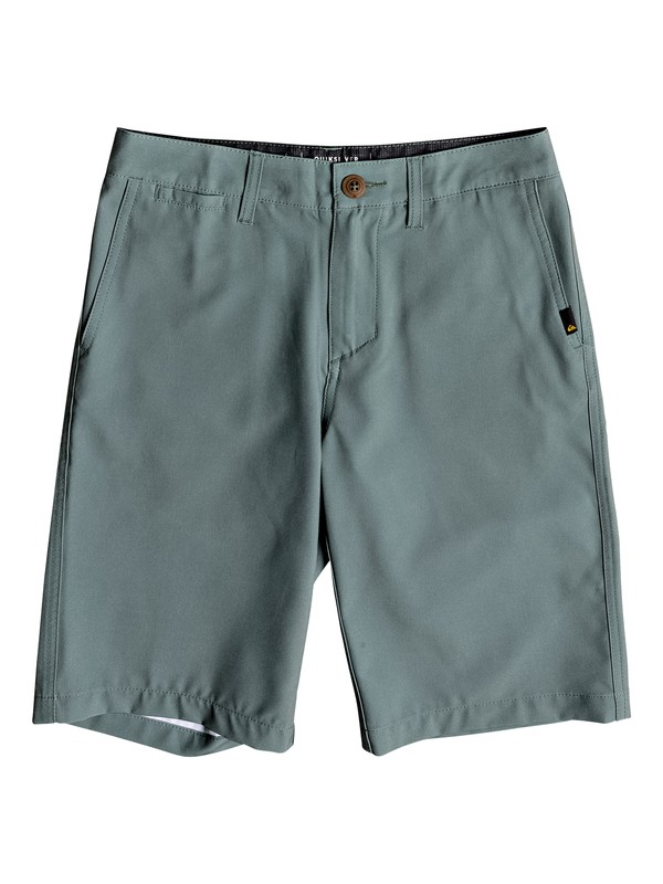 "0 Union 19"" Amphibian Boardshorts Green EQBWS03236 Quiksilver"