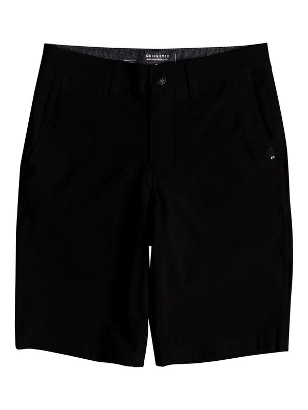 "0 Boy's 8-16  Union 19"" Amphibian Shorts Black EQBWS03269 Quiksilver"