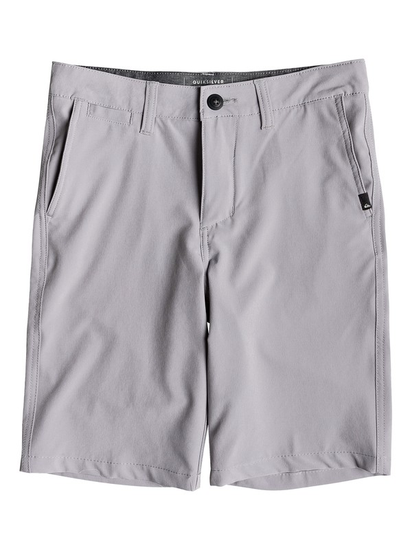 "0 Boy's 8-16 Union 19"" Amphibian Shorts Grey EQBWS03269 Quiksilver"