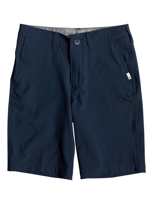 "0 Boy's 8-16 Union 19"" Amphibian Boardshorts Blue EQBWS03276 Quiksilver"
