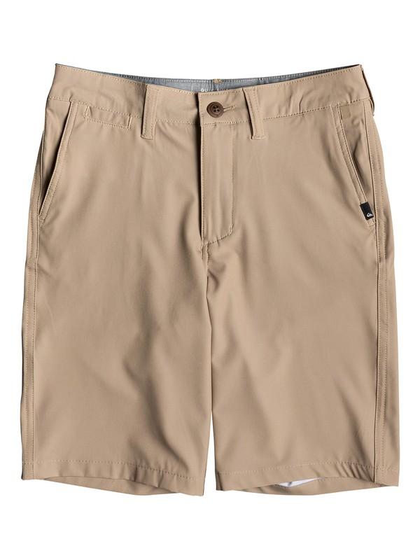 "0 Boy's 8-16 Union 19"" Amphibian Boardshorts Brown EQBWS03276 Quiksilver"