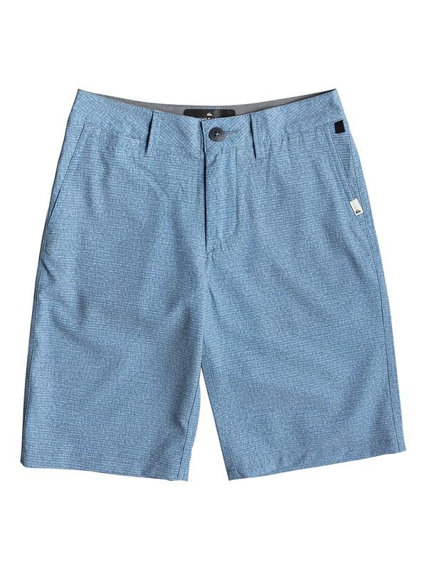 "0 Boy's 8-16 Union Heather 19"" Amphibian Boardshorts Blue EQBWS03279 Quiksilver"