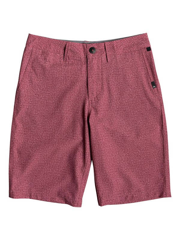 "0 Boy's 8-16 Union Heather 19"" Amphibian Boardshorts Red EQBWS03279 Quiksilver"