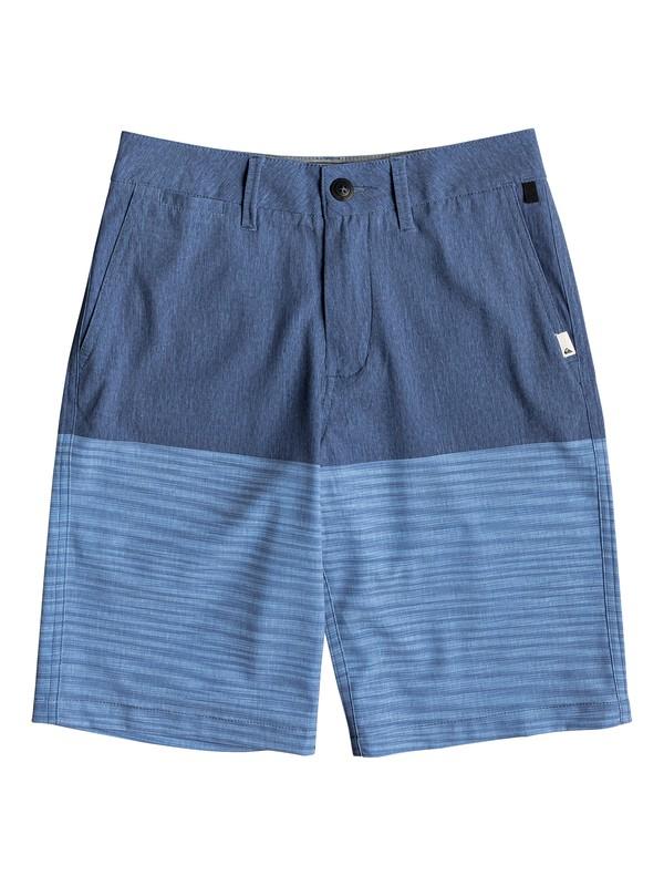 """0 Boy's 8-16 Union Division 19"""" Amphibian Boardshorts Blue EQBWS03281 Quiksilver"""