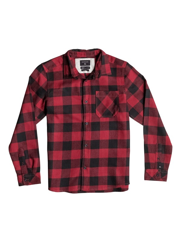 0 Boy's 8-16 Motherfly Flannel Long Sleeve Shirt  EQBWT03109 Quiksilver