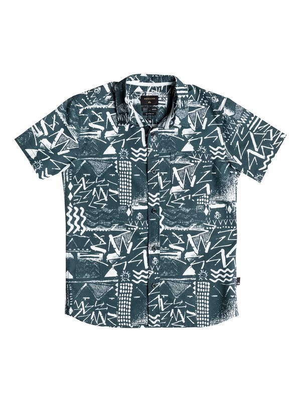 0 Boy's 8-16 Labyrinth Short Sleeve Shirt  EQBWT03111 Quiksilver