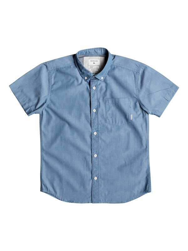 0 Boy's 8-16 Everyday Wilsden Short Sleeve Shirt  EQBWT03131 Quiksilver