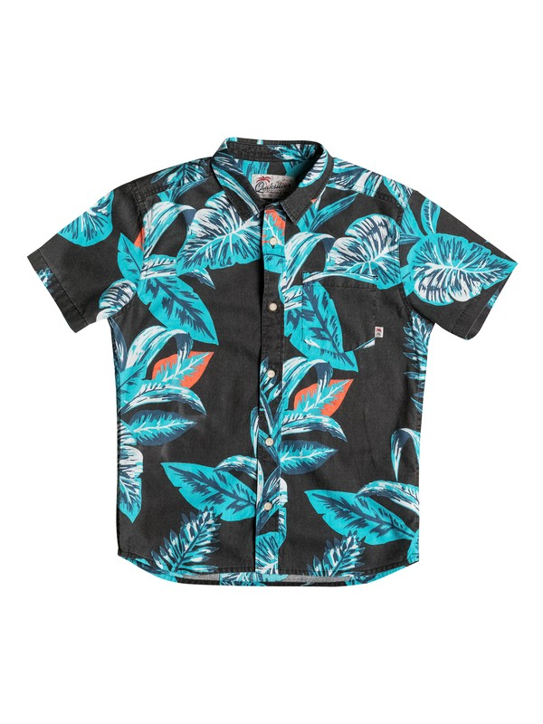 0 Boy's 8-16 Aloe Short Sleeve Shirt  EQBWT03135 Quiksilver