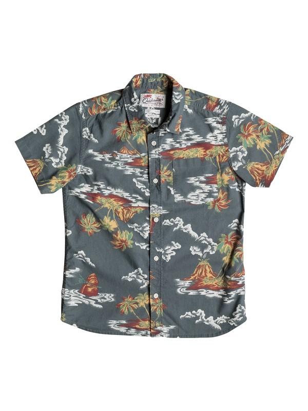 0 Boy's 8-16 Island Apocalyspe Short Sleeve Shirt  EQBWT03137 Quiksilver