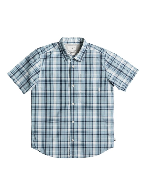 0 Boy's 8-16 Everyday Check Short Sleeve Shirt  EQBWT03177 Quiksilver