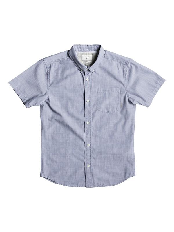 0 Boy's 8-16 Everyday Wilsden Short Sleeve Shirt Blue EQBWT03187 Quiksilver