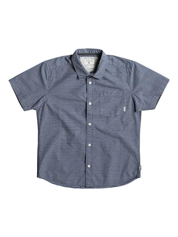 0 Boy's 8-16 Heat Wave Short Sleeve Shirt Blue EQBWT03189 Quiksilver