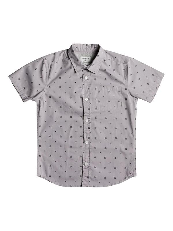 0 Boys 8 -16 Kamanoa Short Sleeve Shirt Grey EQBWT03199 Quiksilver