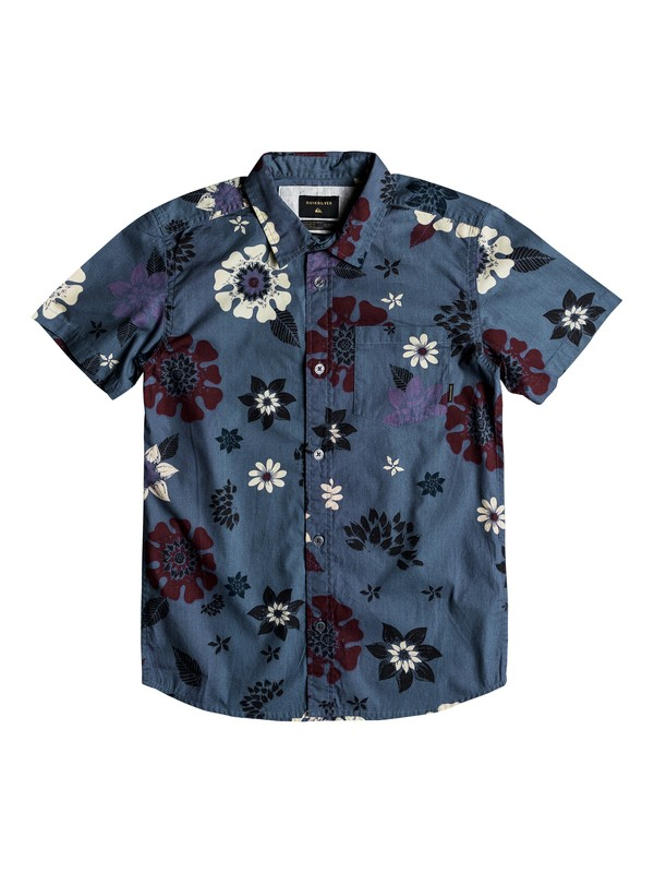 0 Boys 8 -16 Sunset Floral Short Sleeve Shirt Blue EQBWT03209 Quiksilver