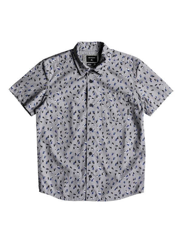 0 Boy's 8-16  Akan Waters Short Sleeve Shirt Grey EQBWT03216 Quiksilver