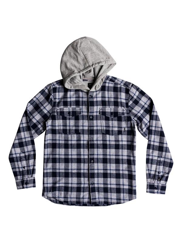 0 Snap Up - Long Sleeve Shirt Blue EQBWT03222 Quiksilver