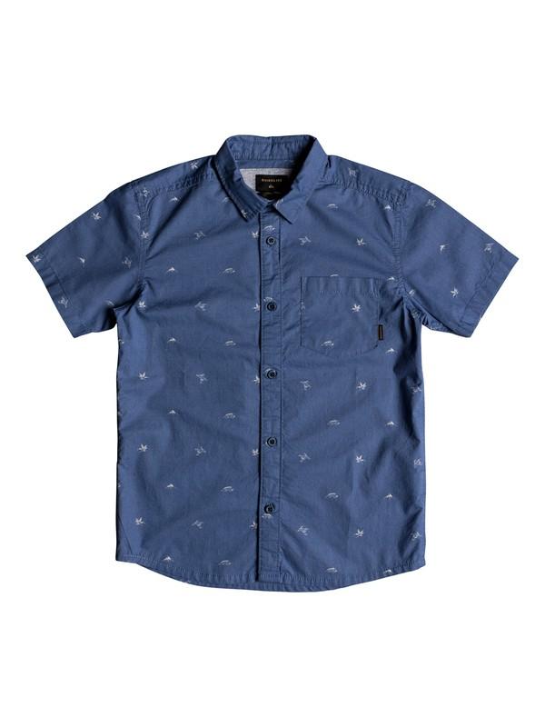 0 Boy's 8-16 Fuji Short Sleeve Shirt Blue EQBWT03228 Quiksilver