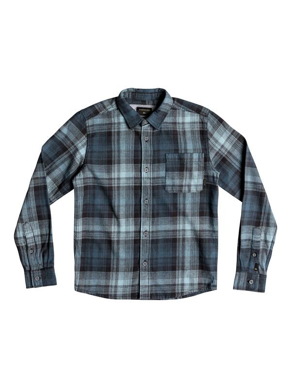 0 Boy's 8-16 Fatherfly Long Sleeve Shirt Blue EQBWT03230 Quiksilver