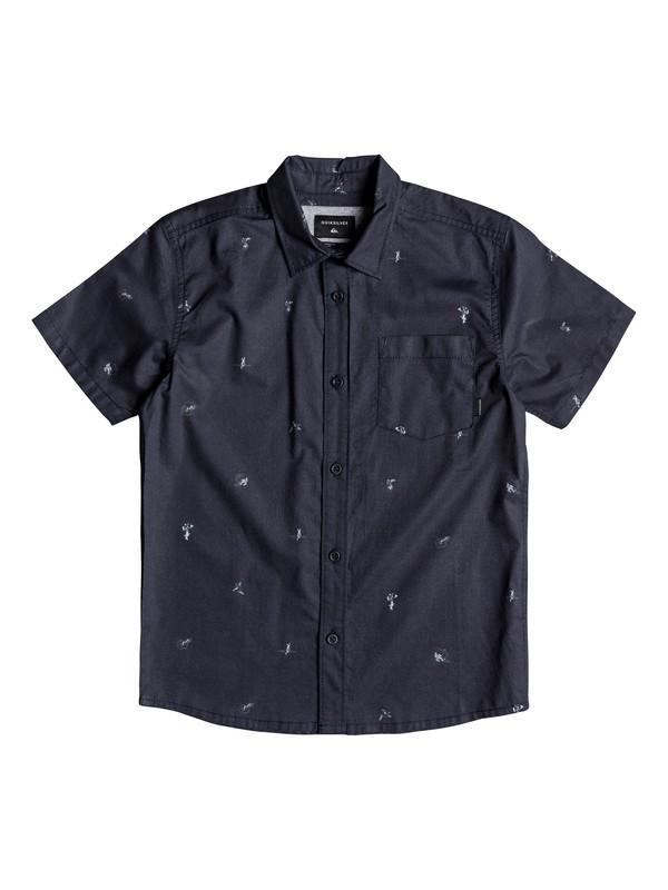 0 Boy's 8-16 Mini Kamakura Short Sleeve Shirt Blue EQBWT03231 Quiksilver