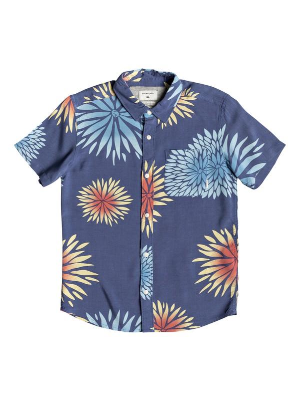 0 Boy's 8-16 New Variable Short Sleeve Shirt Blue EQBWT03232 Quiksilver