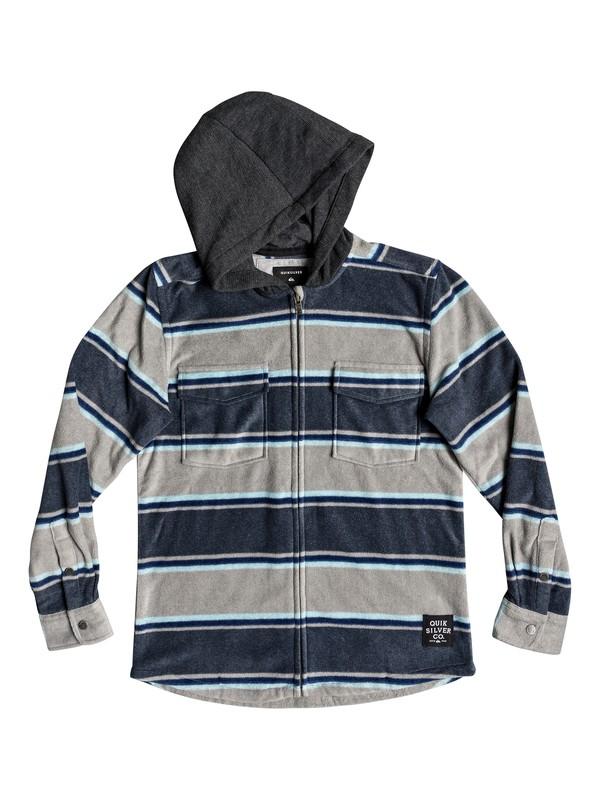 0 Boy's 8-16 Surf Days Long Sleeve Hooded Shirt Blue EQBWT03237 Quiksilver