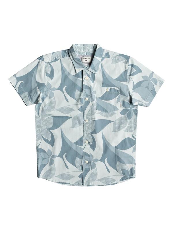 0 Boy's 8-16 Bathursts Bats Short Sleeve Shirt Blue EQBWT03244 Quiksilver