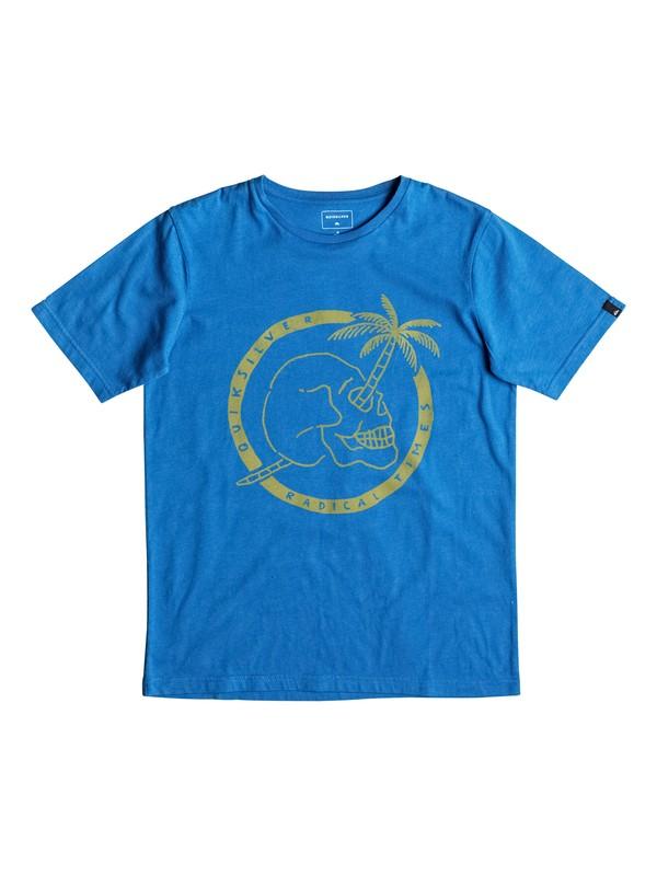 0 Classic Palm Skull - T-Shirt Blau EQBZT03477 Quiksilver