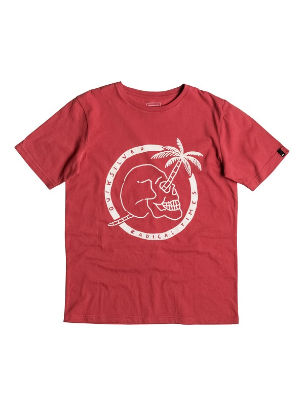 0 Classic Palm Skull - T-Shirt Rot EQBZT03477 Quiksilver