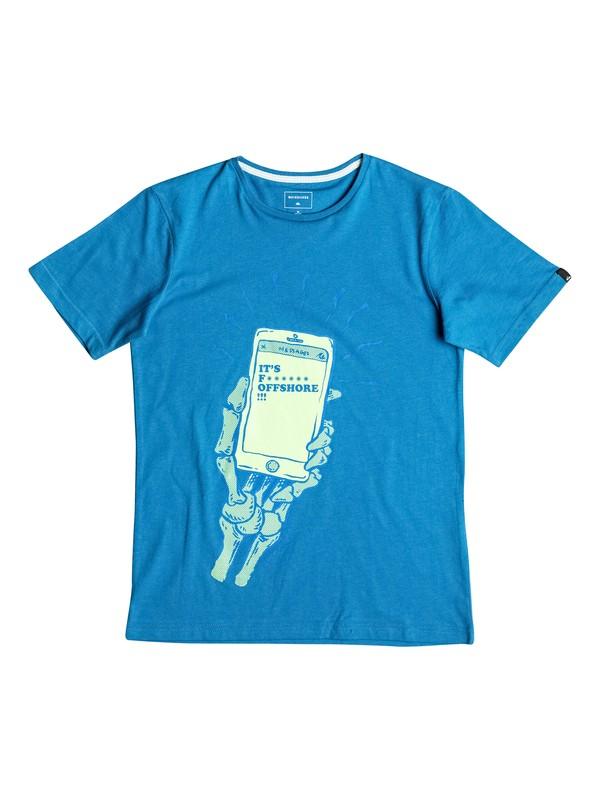 0 Classic Offshore - T-Shirt Blau EQBZT03488 Quiksilver