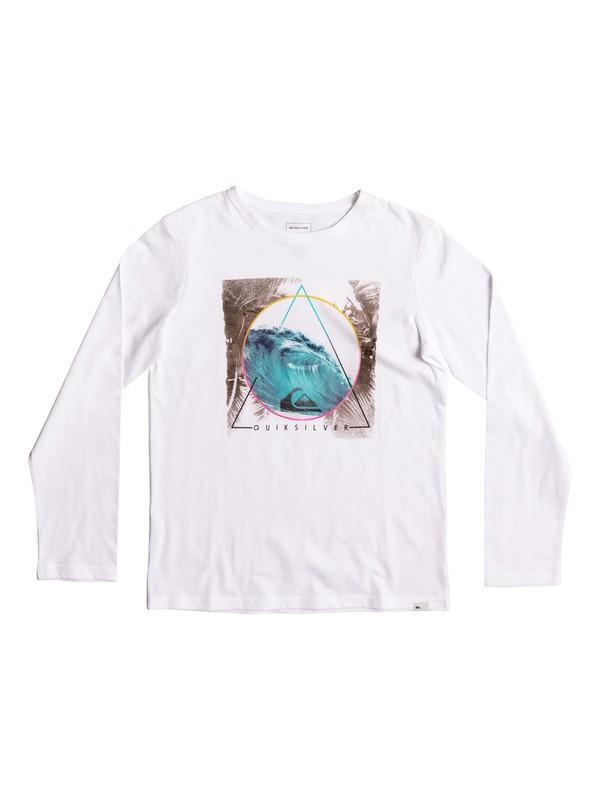 0 Classic Bermuda Trian - Long Sleeve T-Shirt White EQBZT03569 Quiksilver