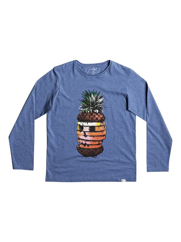 0 Classic Hot Pineapple - Long Sleeve T-Shirt for Boys 8-16 Blue EQBZT03574 Quiksilver