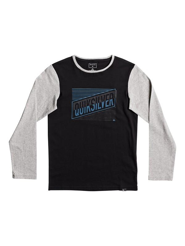 0 Colorblock Port Roca - T Shirt à manches longues Noir EQBZT03575 Quiksilver